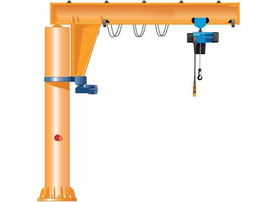 Easy Use Floor Mounted Jib Crane