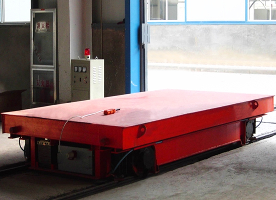Carro eléctrico flexible para transferencias planas
