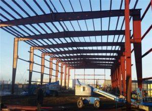 Grandes estructuras industriales de acero