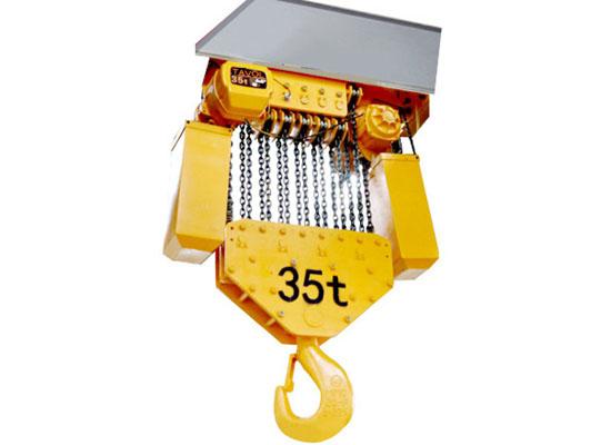 Polipasto de cadena para trabajos pesados