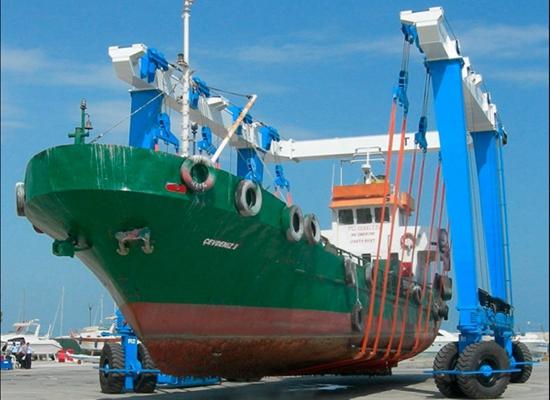 Grúa móvil para barcos de alta resistencia