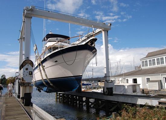 Grúa móvil segura para barcos