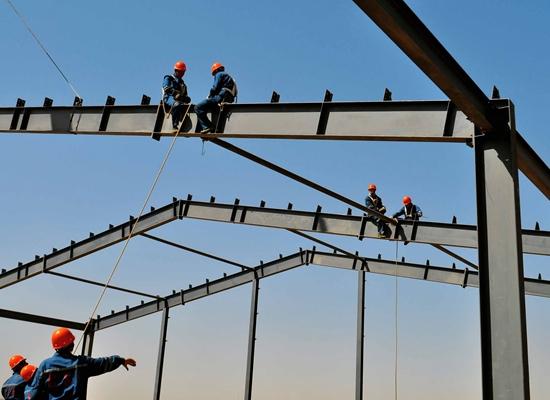 Taller de estructura de acero simple