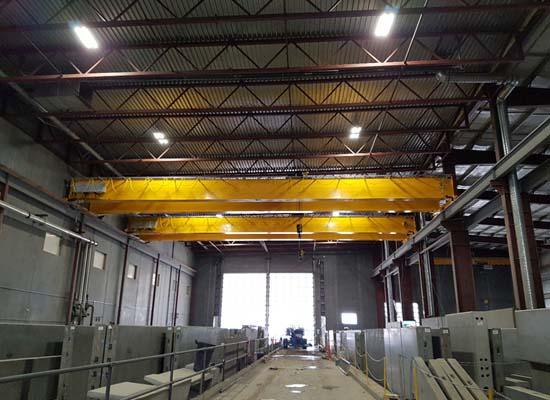 Grúa de funcionamiento superior de 40 toneladas