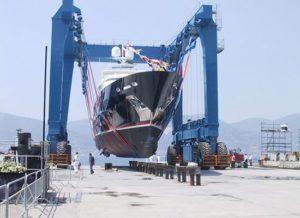 Grúa compacta para barcos