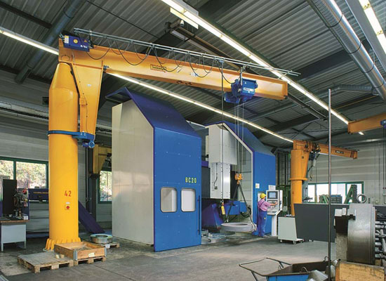 Fixed Column Mounted Jib Crane