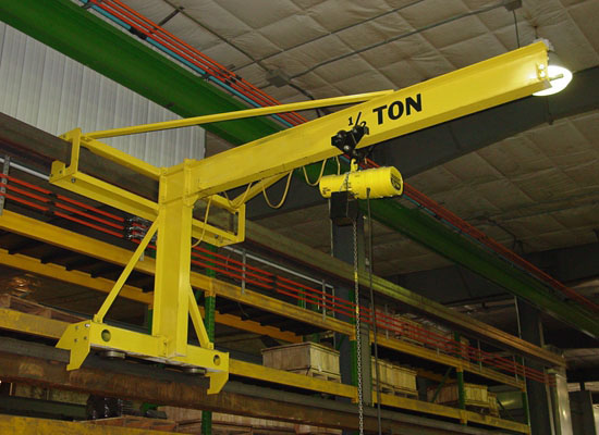 Flexible 1 Ton Wall Traveling Jib Crane