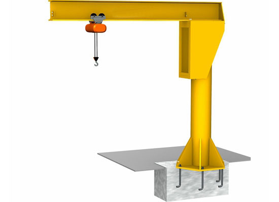 Floor Mounted Slewing Jib Crane