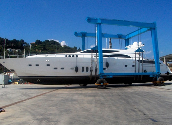 Mobile Boat Crane Hoist Crane