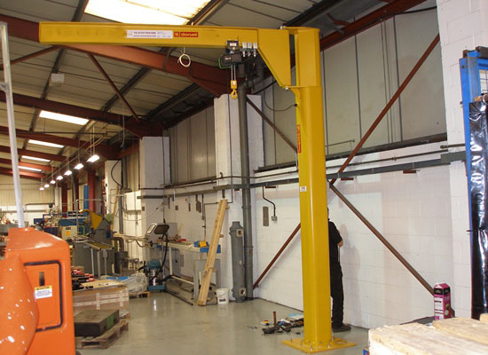 Stable Floor Mounted Jib Crane
