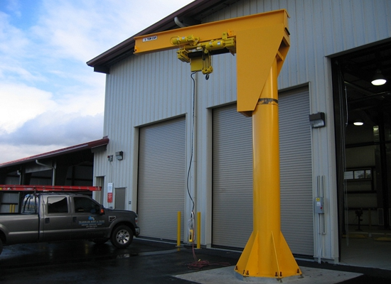 Stable Pillar Mounted Jib Crane
