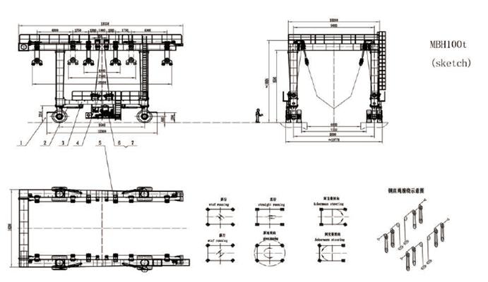 100 Ton Travel Lift Drawings