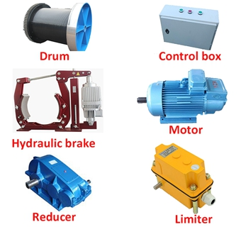 Parts Of Lightweight Electric Winch