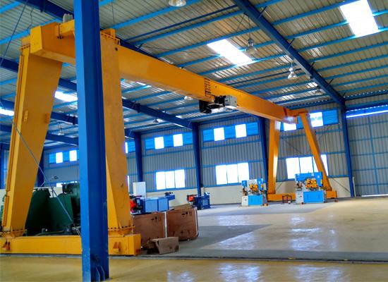 Indoor Single Girder Gantry Crane For Sale