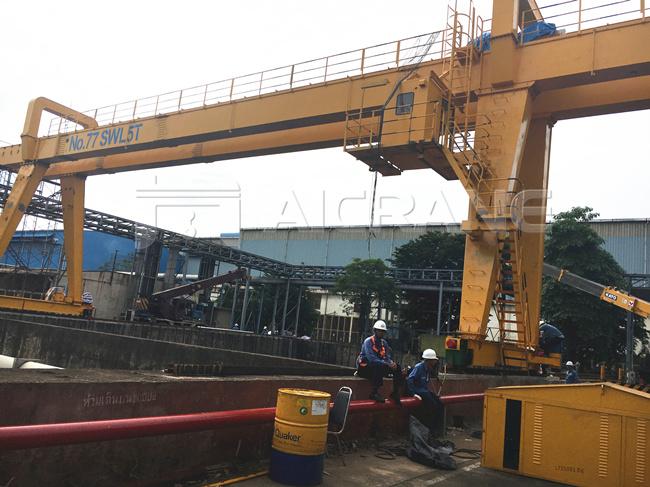 5 ton crane installation