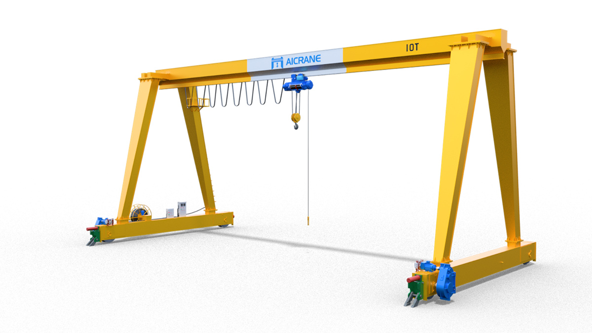 Aicrane 10ton gantry crane