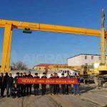 3 Sets of 10ton Gantry Crane Installed in Uzbekistan